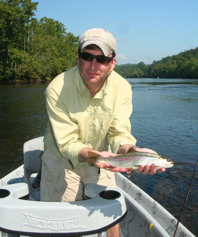Peter Petruzzi with Clinch River rainbow trout.
