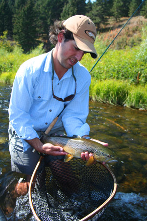 Ian Rutter with Madison River brown trout
