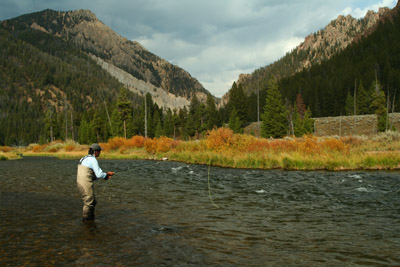 Ian fly fishing the Madison River