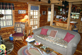 Smoky Mountain cabin interior