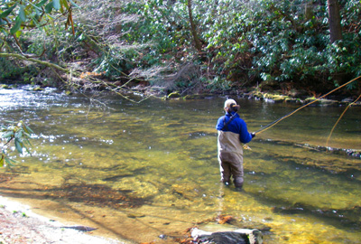 Winter days in the smokies r and r fly fishing for Fishing in gatlinburg tn