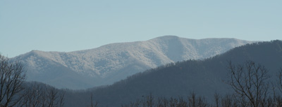 Snow capped Thunderhead Mountain