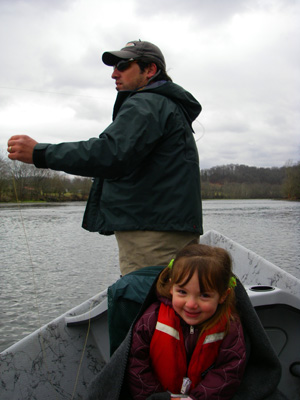 Ian Rutter and daughter Willow on the Holston River