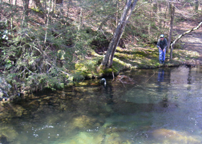 Ian Rutter Fly Fishing on Little River, Great Smoky Mountains