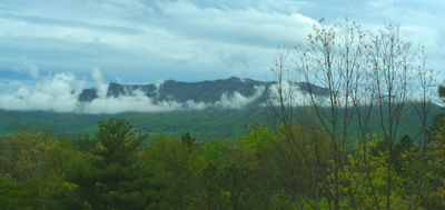 View of the Smokies from Townsend, TN April 27, 2008
