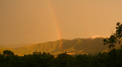 Rainbow over Rich Mountain