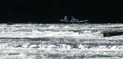 Drift boat on the Hiwassee