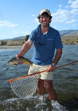 Ian Rutter with Yellowstone Cutthroat, Montana