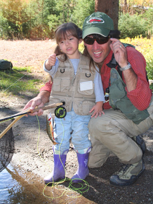 Willow Rutter's first brook trout, Yellowstone National Park