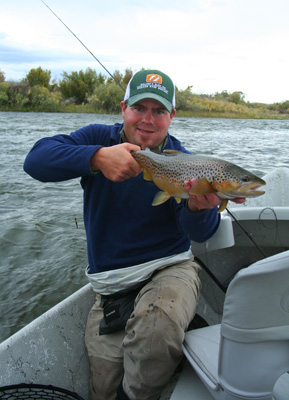 Trey Braasch with a nice Madison River brown trout