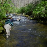 Charity fishing on Noland Creek