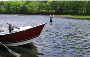 Short casts are usually better than long casts even when fishing from a drift boat.