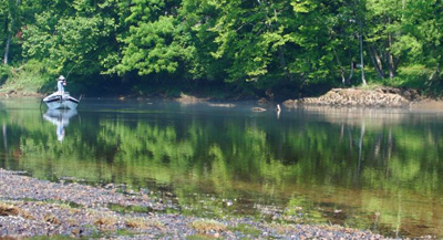 Hooked up on the Clinch River, Tennessee