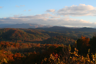 The view from Foothills Parkway