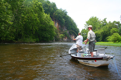 The Pigeon River upstream of Newport, Tennessee is a scenic and overlooked smallmouth bass river