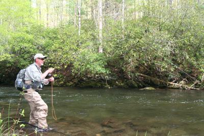 Wayne Stowers hooked up on Hazel Creek