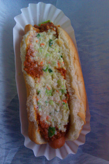 Slaw Dog from Parkway Grocery in Townsend, TN