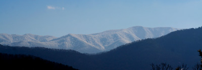 The view of Thunderhead Mountain from Townsend, TN