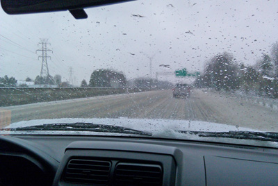 Living the dream as a fly fishing guide. This was the interstate in Charlotte Saturday morning on the way to the show.