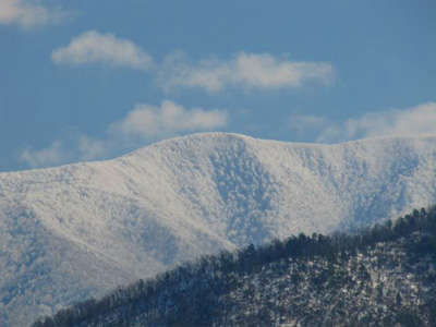 There has been over 3 feet of snow along the crest of the Smoky Mountains
