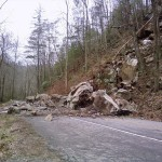 Rock Slide in the Smokies Closes a Portion of Little River Road
