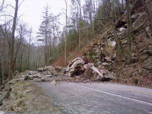 Little River Rock Slide