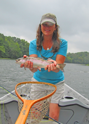 Charity with a rainbow trout