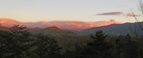 Evening light & clouds over the Smokies