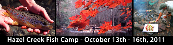 Join us on Hazel Creek October 13-16, 2011