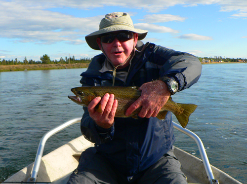 Chris Thompson with a nice Henry's Fork rainbow trout