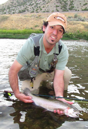 Ian with Bighorn Rainbow Trout