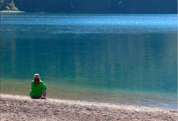 Charity at Lake Lanin, Argentina