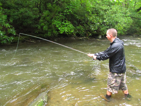 Smokies fly fisher