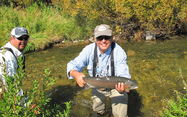 Cliff Posman on Sheridan Spring Creek