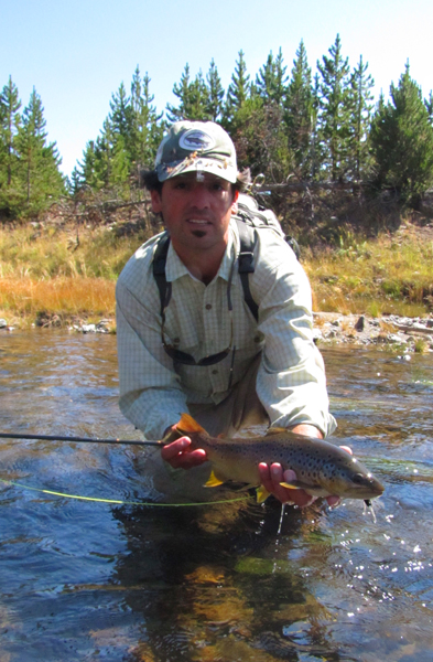 Ian with Yellowstone Park brown trout