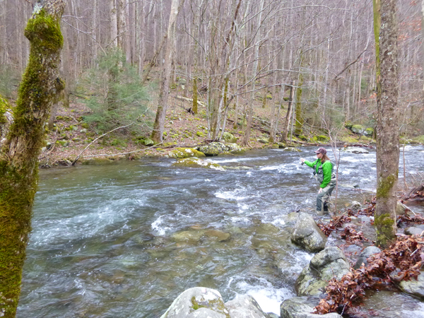 Charity fishing in the Smokies December 2012