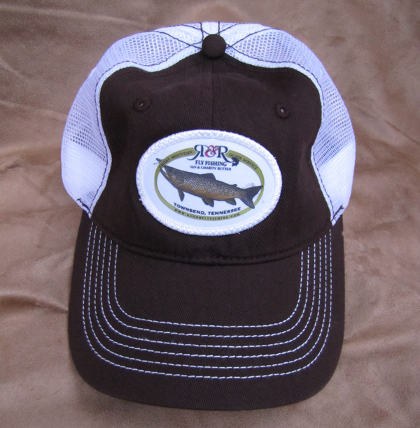 Logo trucker hat r and r fly fishing for Fly fishing trucker hat