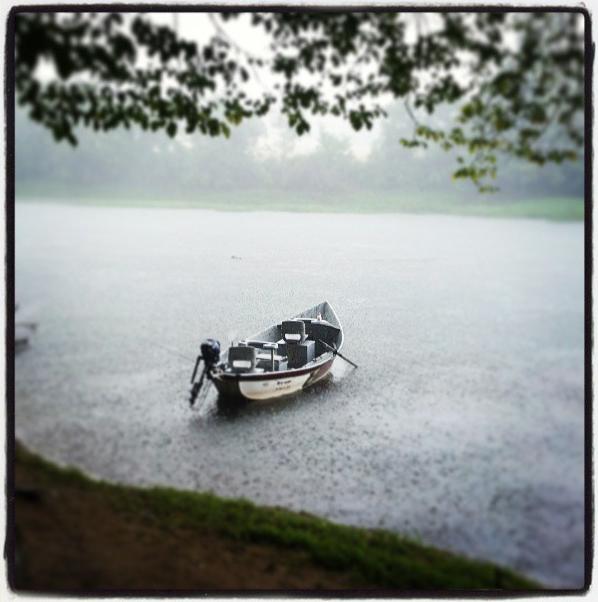 Drift Boat In Storm