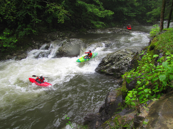 Paddlers At Tremont