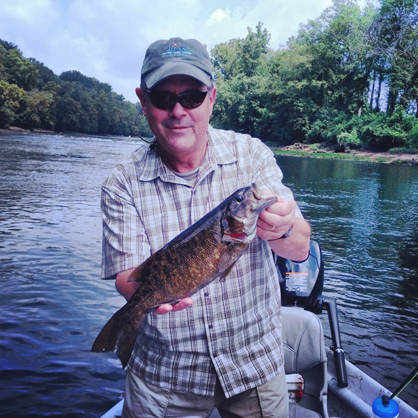 This nice Holston River smallmouth took a popper