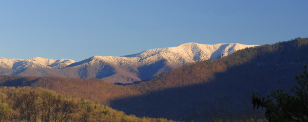 Snowcapped Thunderhead Mountain in the Smokies