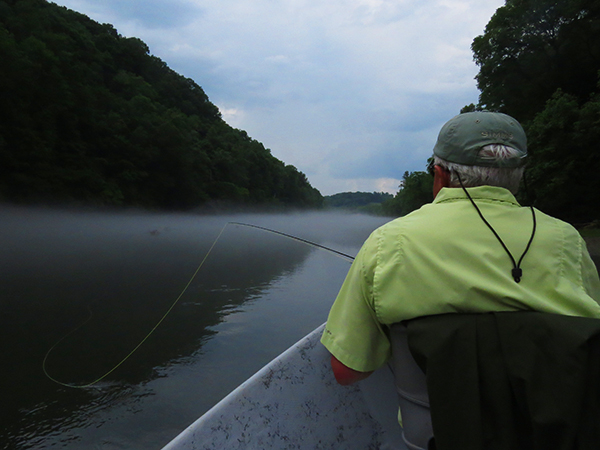 A typical humid, overcast day on an East Tennessee tailwater