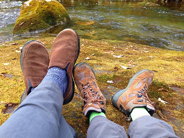 Mom&BooneShoesLaidBack