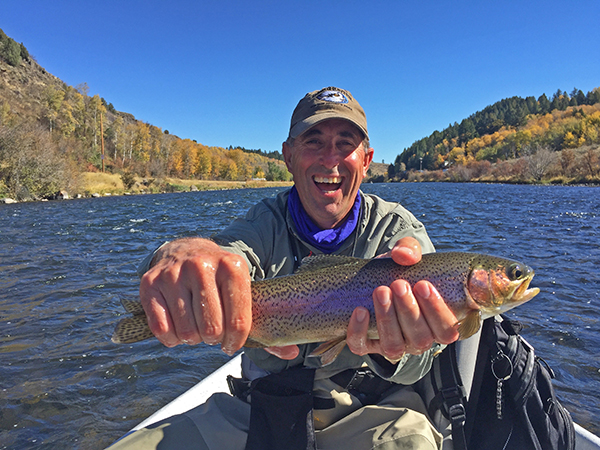 Mark in his happy place on the Madison River