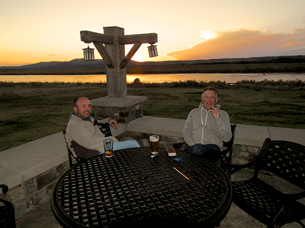 Seth & Mike capping off a great day on the patio TroutHunter