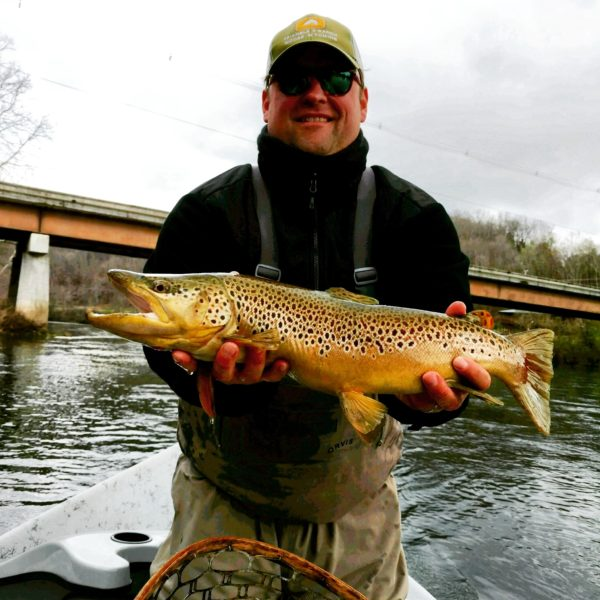 "Fish of the season so far! Chris Minix caught this 22"" brown trout on a large streamer on a Clinch River float last week."