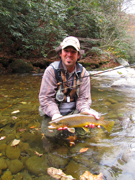 Fly Fishing for Large Brown Trout in the Smokies In Fall
