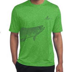 Rising trout MENS wrap shirt FRONT
